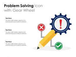 Problem Solving Icon With Gear Wheel