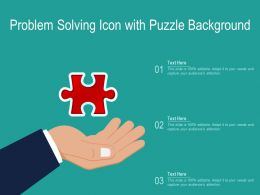 Problem Solving Icon With Puzzle Background