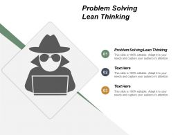 Problem Solving Lean Thinking Ppt Powerpoint Presentation Infographic Template Show Cpb