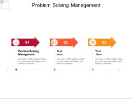 Problem Solving Management Ppt Powerpoint Presentation Portfolio Cpb
