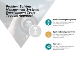 Problem Solving Management Systems Development Cycle Taguchi Approach Cpb