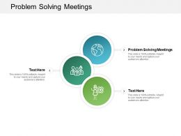 Problem Solving Meetings Ppt Powerpoint Presentation Pictures Cpb
