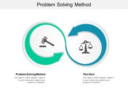 Problem Solving Method Ppt Powerpoint Presentation Model Layout Ideas Cpb