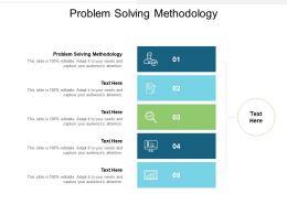 Problem Solving Methodology Ppt Powerpoint Presentation Summary Show Cpb