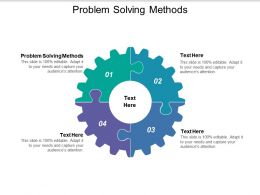 Problem Solving Methods Ppt Powerpoint Presentation Visual Aids Example File Cpb