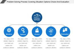 Problem Solving Process Covering Situation Options Choice And Evaluation