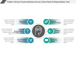 Problem Solving Process Identifying Sources Criteria Roles And Responsibilities Tools