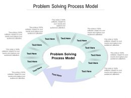 Problem Solving Process Model Ppt Powerpoint Presentation Outline Files Cpb