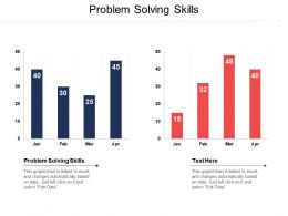 Problem Solving Skills Ppt Powerpoint Presentation Gallery Infographics Cpb