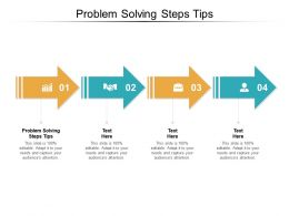 Problem Solving Steps Tips Ppt Powerpoint Presentation Styles Tips Cpb