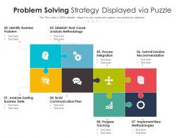 Problem Solving Strategy Displayed Via Puzzle