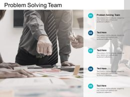 Problem Solving Team Ppt Powerpoint Presentation Model Background Images Cpb