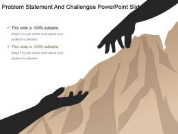 Problem Statement And Challenges Powerpoint Slide