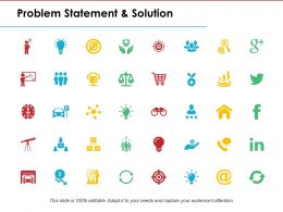 Problem Statement And Solution Ppt Powerpoint Presentation File Files