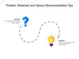 Problem Statement And Various Recommendation Tips