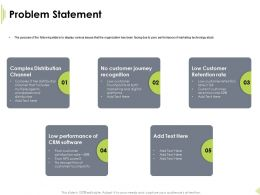 Problem Statement Customer Touchpoints Ppt Powerpoint Presentation Diagrams