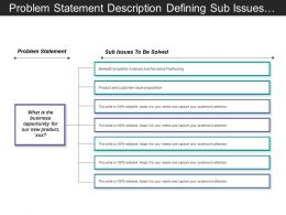 Problem Statement Description Defining Sub Issues To Be Solved