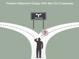 problem_statement_design_with_man_on_crossroads_powerpoint_images_Slide01