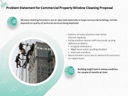 Problem Statement For Commercial Property Window Cleaning Proposal Ppt Powerpoint Presentation