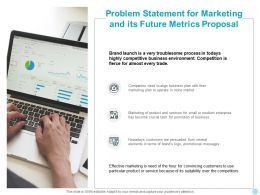 Problem Statement For Marketing And Its Future Metrics Proposal Ppt Design