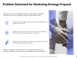 Problem Statement For Marketing Strategy Proposal Ppt Powerpoint Presentation