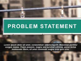 Problem Statement Image Slide Showing Road Signboard