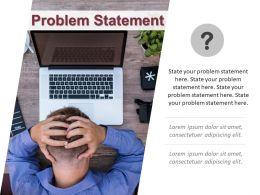 Problem Statement Layout With Man Holding Head In Stress