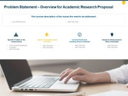 Problem Statement Overview For Academic Research Proposal Ppt Powerpoint Show
