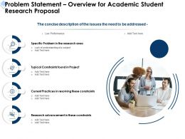 Problem Statement Overview For Academic Student Research Proposal Ppt Powerpoint Grid