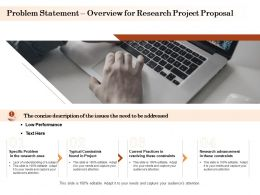 Problem Statement Overview For Research Project Proposal Ppt Powerpoint Examples