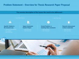 Problem Statement Overview For Thesis Research Paper Proposal Ppt Icon