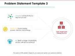 Problem Statement Ppt Model Slides