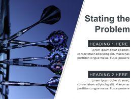 problem_statement_ppt_slide_with_dartboard_and_arrows_Slide01