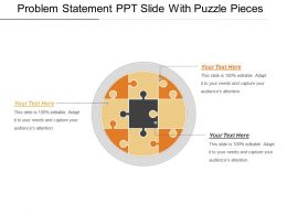 Problem Statement Ppt Slide With Puzzle Pieces Powerpoint Slides Design