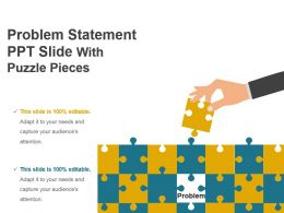 Problem Statement Ppt Slide With Puzzle Pieces Presentation Design