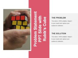 Problem Statement Ppt Slide With Rubiks Cube Presentation Ideas