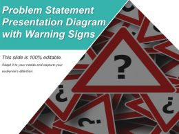 Problem Statement Presentation Diagram With Warning Signs Ppt Icon
