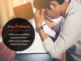Problem Statement Slide With Businessman In Stress