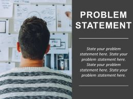 Problem Statement Slide With Man Confused Between Many Options