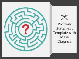 Problem Statement Template With Maze Ppt Model