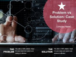 Problem Vs Solution Case Study Ppt Icon