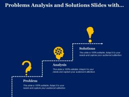Problems Analysis And Solutions Slides With Icons