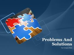Problems And Solutions Powerpoint Presentation Slides
