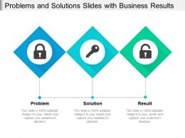 Problems And Solutions Slides With Business Results