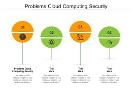 Problems Cloud Computing Security Ppt Powerpoint Presentation Styles Graphic Tips Cpb