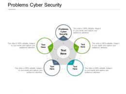 Problems Cyber Security Ppt Powerpoint Presentation Styles Infographic Template Cpb