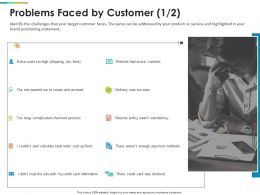 Problems Faced By Customer Account Ppt Powerpoint Presentation Infographics Inspiration