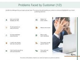 Problems Faced By Customer Costs Ppt Gallery Inspiration