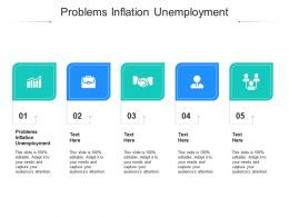 Problems Inflation Unemployment Ppt Powerpoint Presentation Outline Maker Cpb