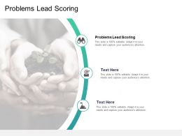 Problems Lead Scoring Ppt Powerpoint Presentation Inspiration Portrait Cpb